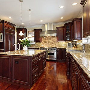Classic Kitchen With Tile Backsplash