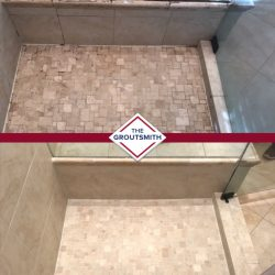 Before and After Tile Restoration in Shower