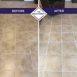 Before and After Flooring Tile Restoration