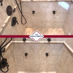 Shower Grout Repair Before and After