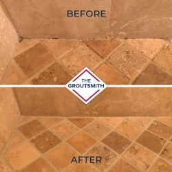 Before and After Grout Restoration and Repair