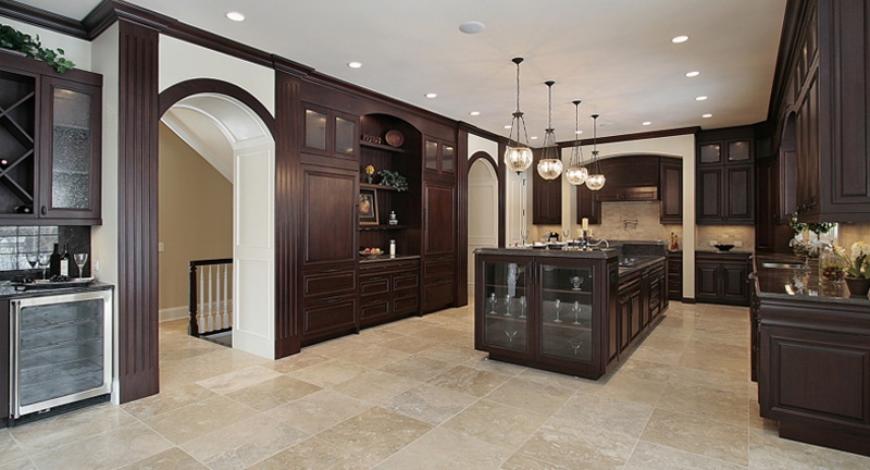 Modern Kitchen With Tile Flooring