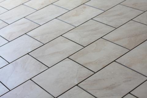 Freshly Cleaned Floor Tile