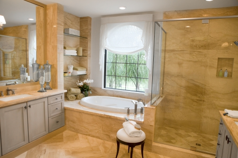 Modern Bathroom With New Tile Installation