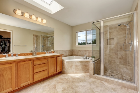 Modern Bathroom With Clean Tile and Grout