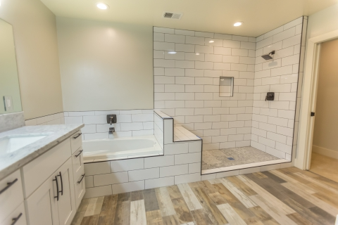 Bathroom With Clean White Tile
