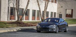 GSD Rides Boston Tesla rental Model S P90D drive shot