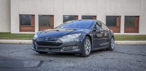 GSD Rides Boston Tesla rental Model S P90D front driver