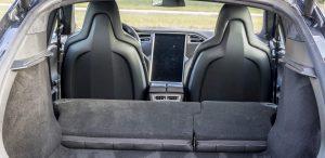 GSD Rides Boston Tesla rental Model S P90D rear trunk