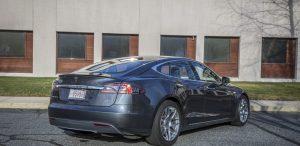 GSD Rides Boston Tesla rental Model S P90D rear passenger