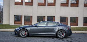 GSD Rides Boston Tesla rental Model S P90D side driver