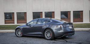 GSD Rides Boston Tesla rental Model S P90D rear driver