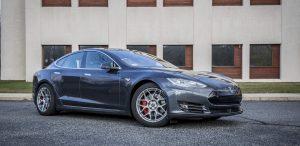 GSD Rides Boston Tesla rental Model S P90D front passenger