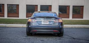 GSD Rides Boston Tesla rental Model S P90D rear