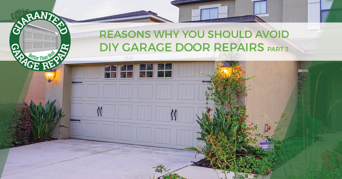 Port St Lucie Garage Door Repair Part 3 On Why The Pros