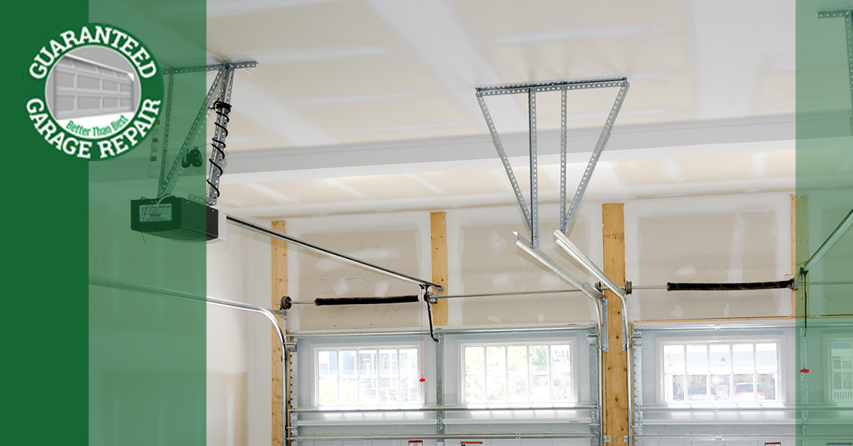 An image of the interior of a garage.