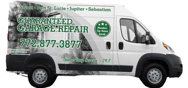 The Guaranteed Garage Repair van on a transparent background.