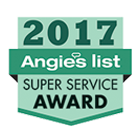 The 2017 Angie's list super service award badge
