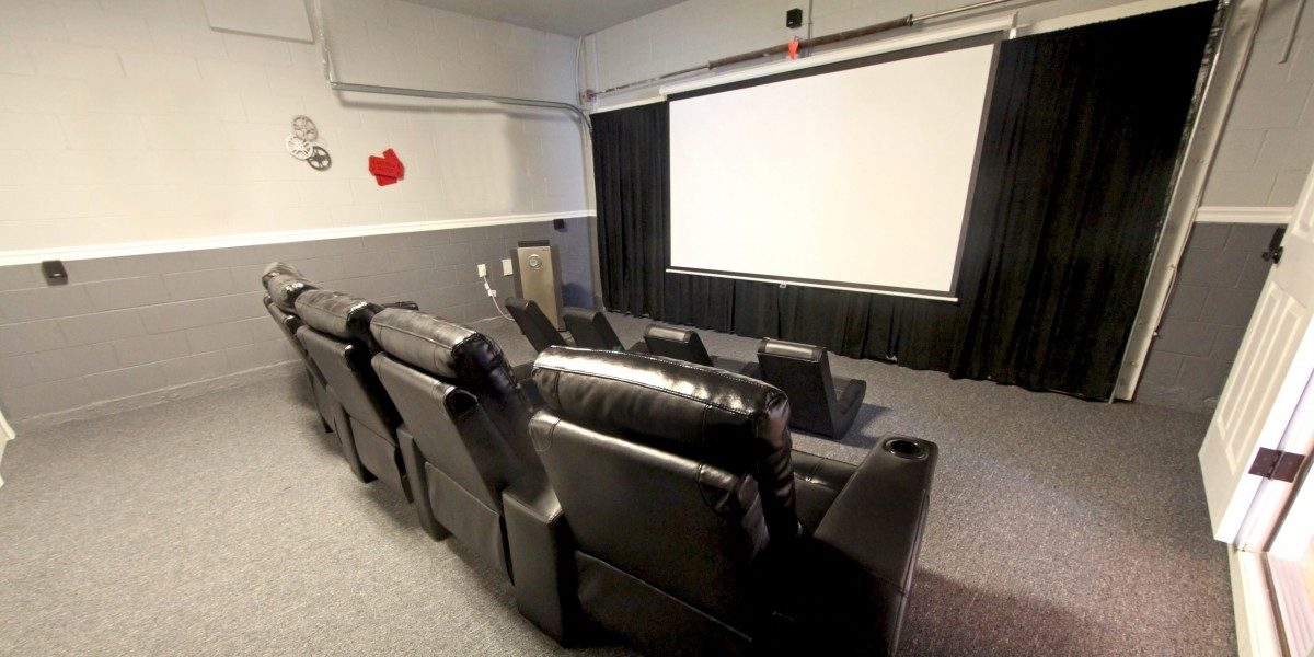 A small home theater.
