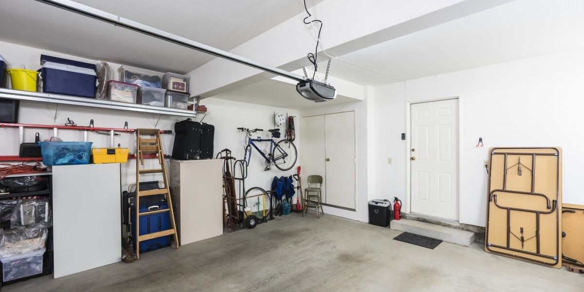 A neatly organized garage space.