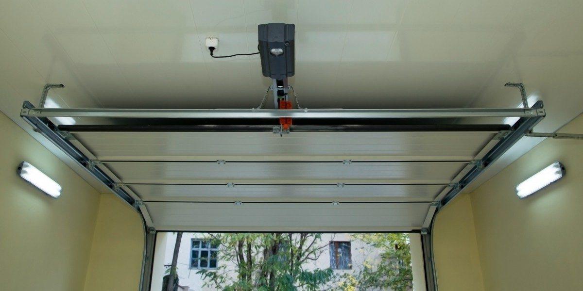An image of a garage door opener in action.