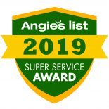 Angie's List 2019 Super Service Award.