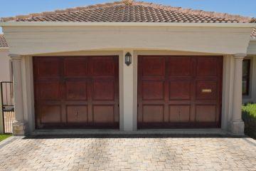 A stunning new wood garage doors.