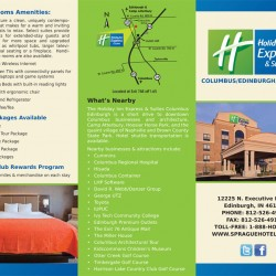 tri-fold brochure for hotels and motels