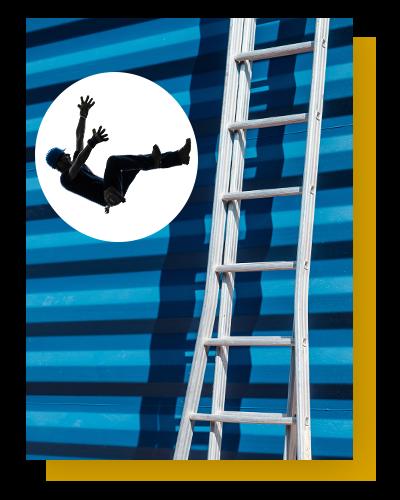 ladder falling