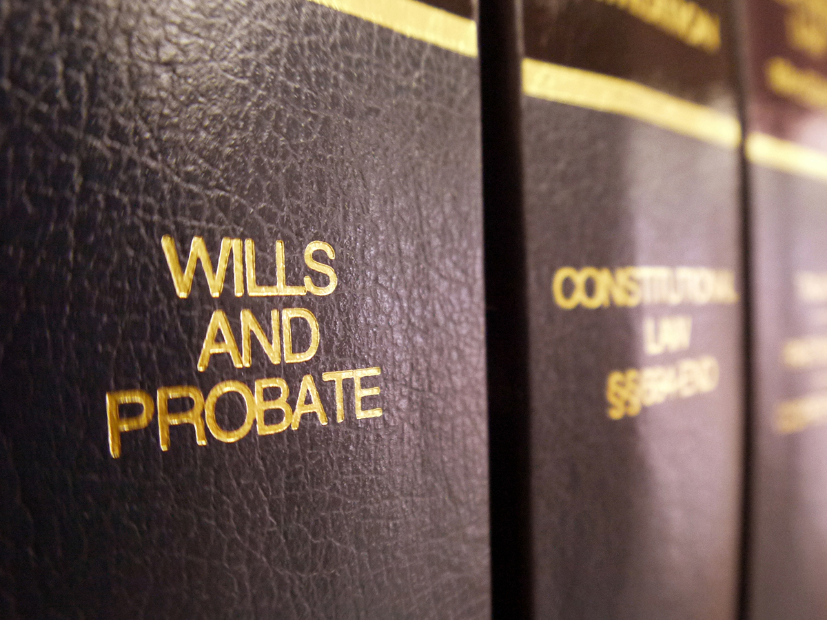 legal books concerning estate planning, wills, and probate