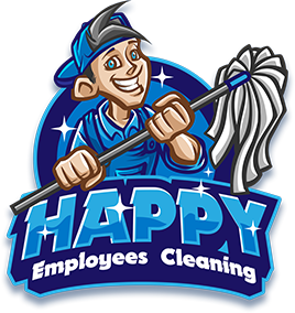 Happy Employees Cleaning