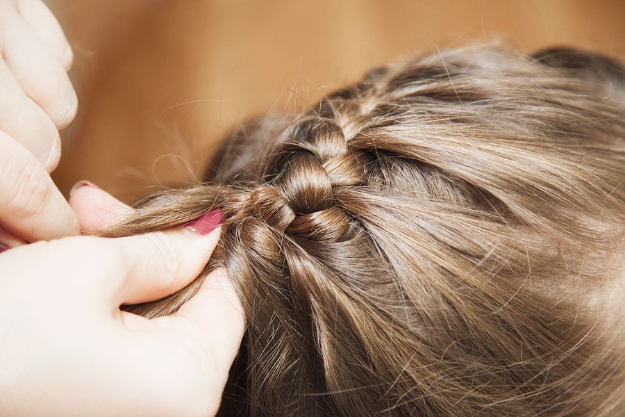 Braiding the hair in creative ways becomes easy with practice.