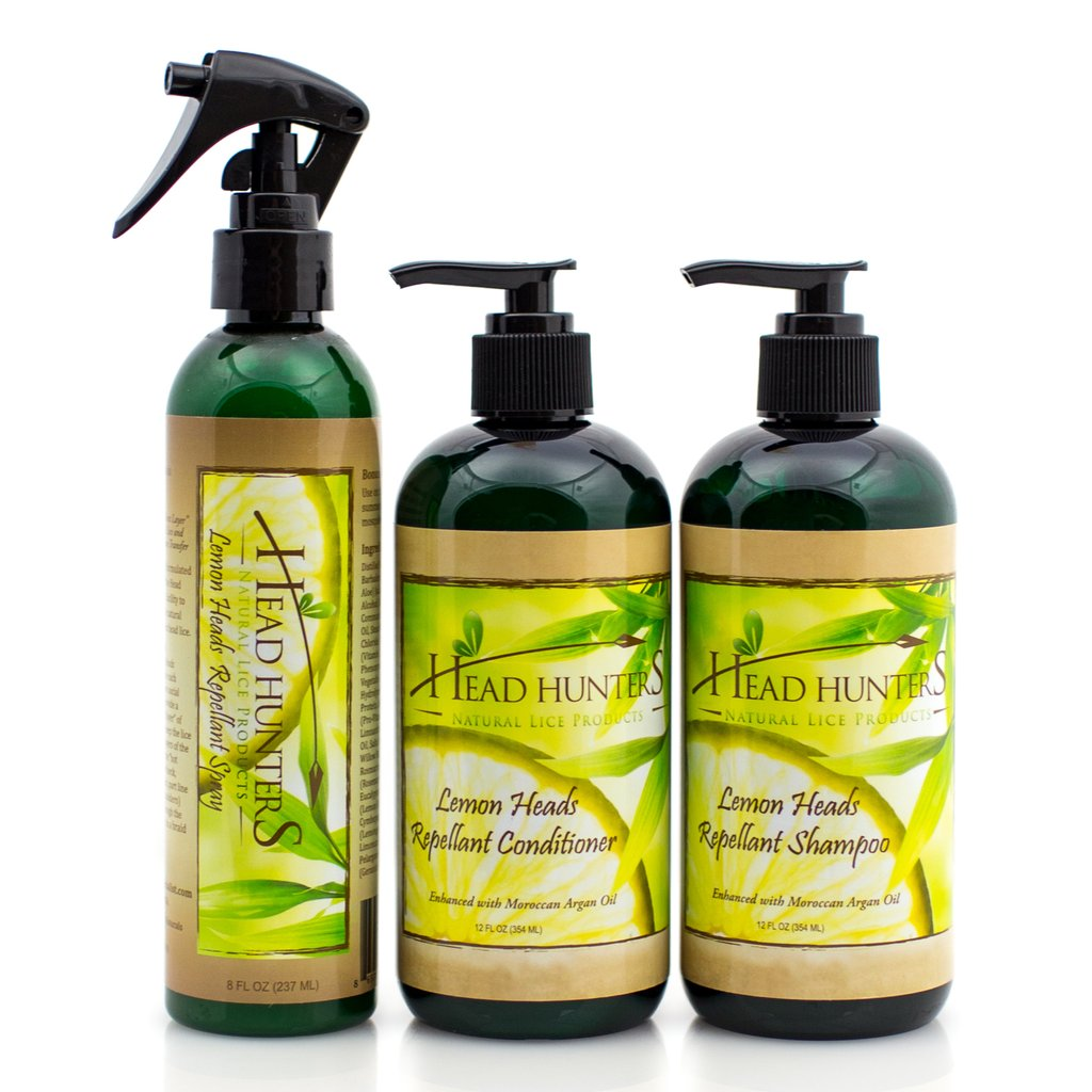 Head Hunters Naturals Lemon Heads Repellant Trio