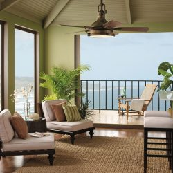 Kichler Hatteras Bay Outdoor Fan and Lighting at Hermitage Gallery