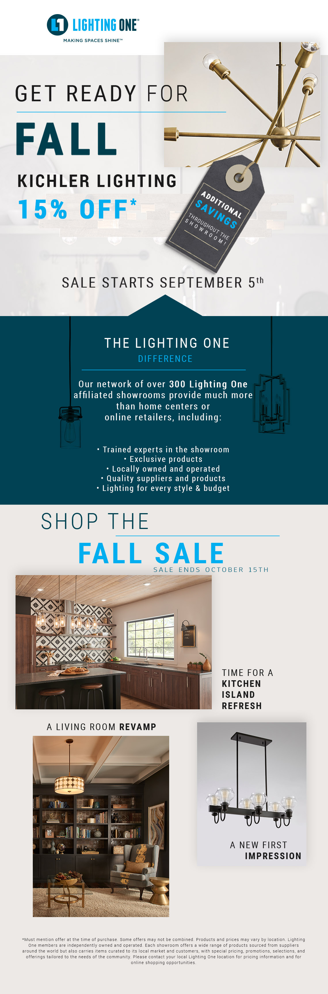Kichler Lighting Sale