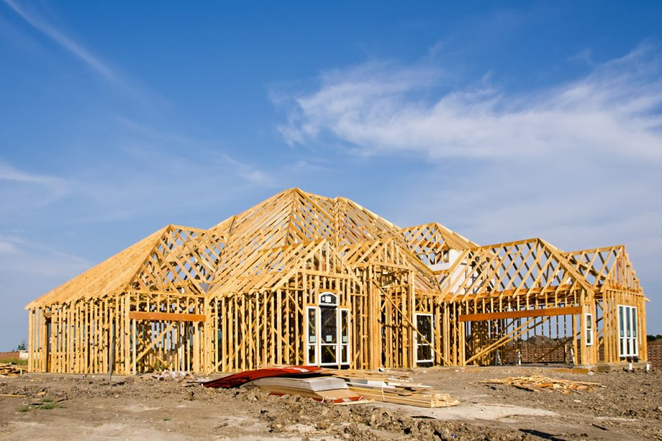 Timber Framing of New Home