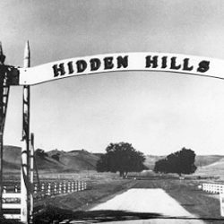 Historic picture of Hidden Hills, a luxury home community.