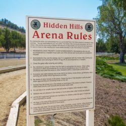 Arena rules in real estate community in Hidden Hills.
