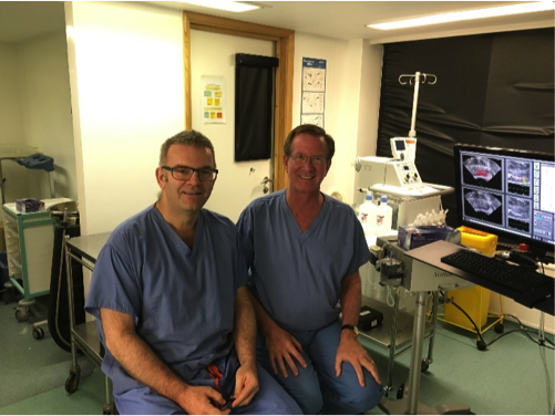 Dr. Pugach trains with Mark Emberton in London