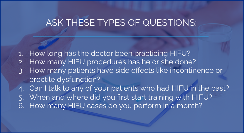 Questions to Ask HIFU Doctors