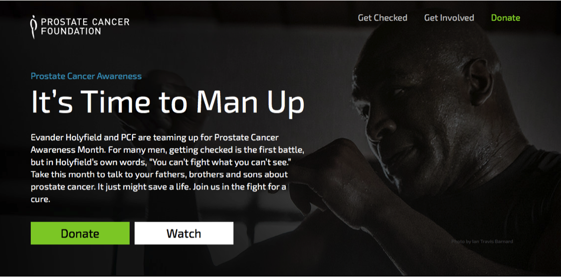 Man Up Prostate Cancer Campaign