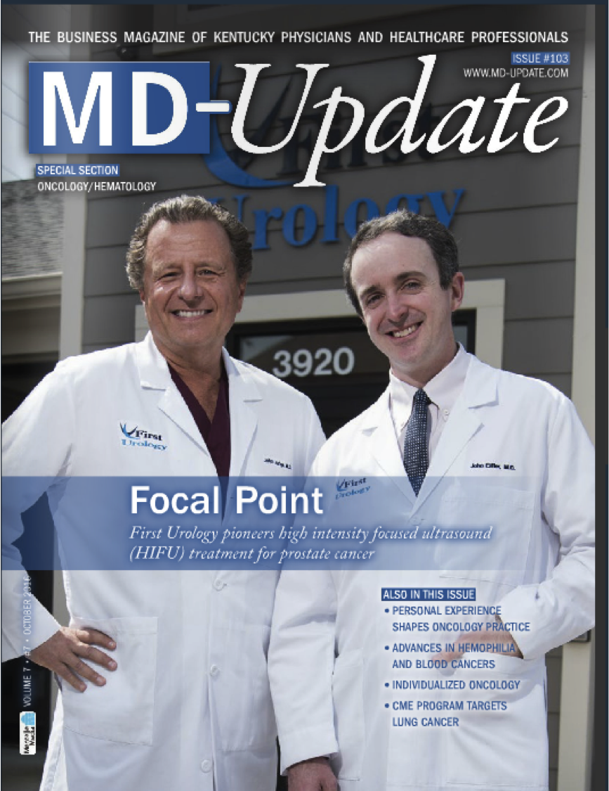 MD Update - HIFU Featured with First Urology