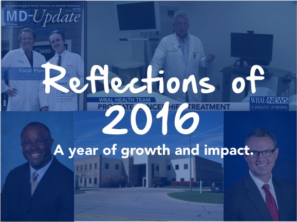 Accomplishments of 2016 for HIFU Prostate Services