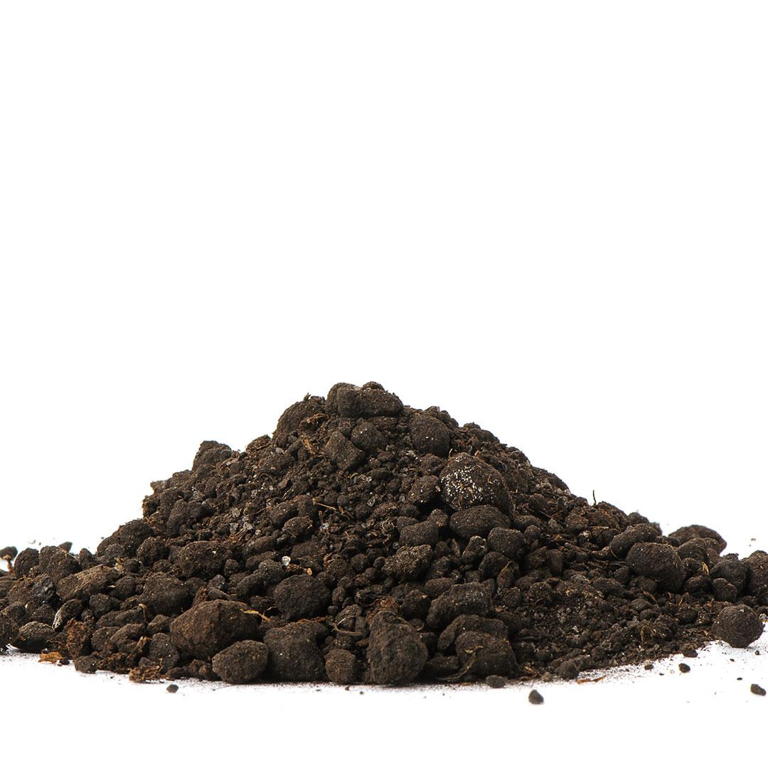 Pile of dirt.