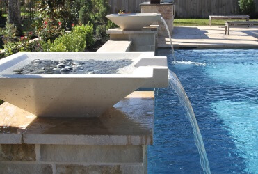 Swimming Pool Water Features - Check Out These Custom Swimming Pool ...