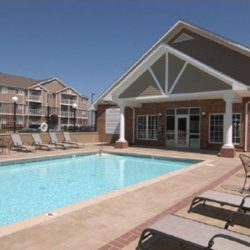 The pool and club house at a Lincoln apartment complex.