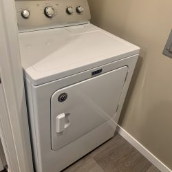 An in-unit washer and dryer.