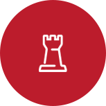 A vector image of a rook from chess.