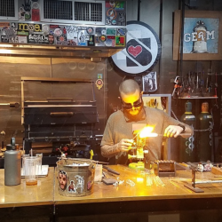 Glass blowing at Witch Dr. Glass Blowing Studio in Massachusetts