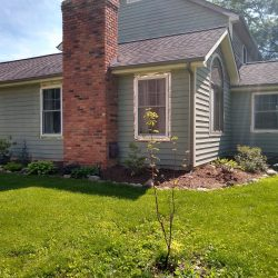 side view of house before